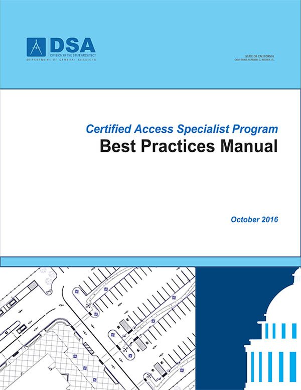 Certified Access Specialist Program Best Practices Manual